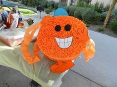 Mr. Men Pinata Mr. Tickle by YouBuyItYouBreakIt on Etsy, $42.00