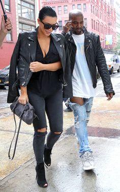 Kim Kardashian steps out in Manhattan with Kanye West on June 1, 2015.   - Cosmopolitan.com