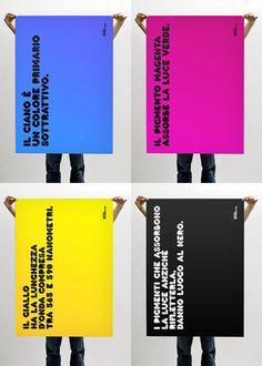 CMYK Posters by Antonio Carusone.       A nice collection of posters available in Cyan, Magenta, Yellow and Black by Milano based studio Unconfessable Ideas.