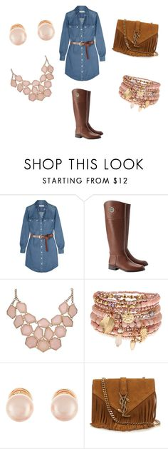 """""""Datee Nightt"""" by desakabeauty on Polyvore featuring MICHAEL Michael Kors, Tory Burch, Accessorize, Kenneth Jay Lane and Yves Saint Laurent"""
