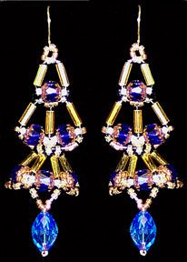 Crown Jewel Earrings Pattern at Sova-Enterprises.com. Lots of free craft patterns and beading tutorials are available on this site!