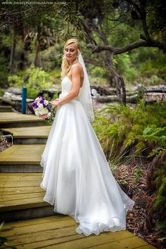 Nic and Daniel: A vision of loveliness descends from our villas | Photo: Diesel Photographics |  #kingfisherbay #fraserisland #destinationwedding #fraserislandwedding #fraserwedding http://www.fraserislandweddings.com.au/ #AccorAustralia #Mercure