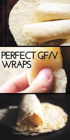 The Best Gluten-Free Tortilla Wraps (Vegan) - The Best Gluten-Free & Vegan Tortillas that make the perfect pliable and foldable wraps ready for your favorite fillings or served alongside your favorite Mexican meals! They only take 4 ingredients, are super Gluten Free Snacks, Gluten Free Diet, Gluten Free Baking, Gluten Free Recipes, Recipe For Gluten Free Tortillas, Easy Gluten Free Meals, Gluten Free Grains, Healthy Snacks, Dairy Free