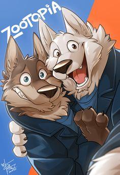 """takemotoarashi: """" [Fanart] Those wolves are soooo CUTE and they wanna take a selfie too! """""""
