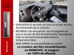 La revisión del Aire Acondicionado en BRIMOVIL le asegura un 100% de eficacia: http://www.brimovil.com