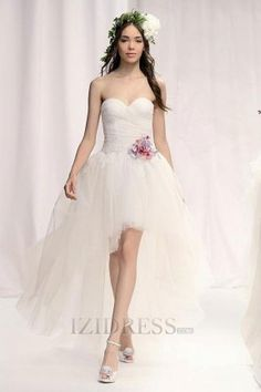 A-line Strapless Sweetheart Tulle A-Line Wedding Dresses