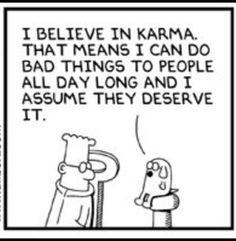 Karma. Dilbert