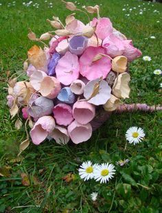 "Eco wedding: paper bouquet "" La primavera""  www.alessandrafabre.com"