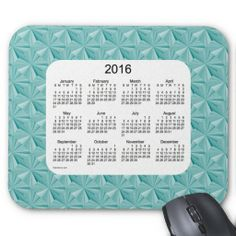 Turquoise Diamonds 2016 Calendar Mouse Pad  Design from Calendars by Janz
