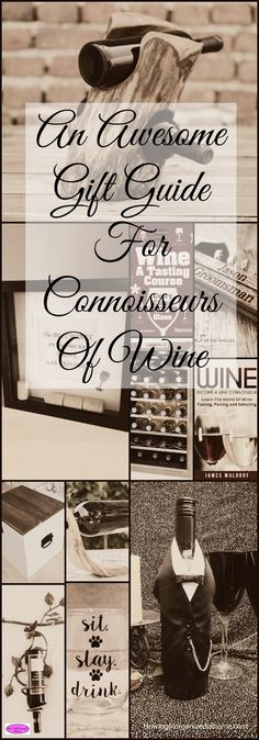 If you are looking for an awesome gift guide for connoisseurs of wine you have found it! This will help you find the perfect gift for any wine drinker!