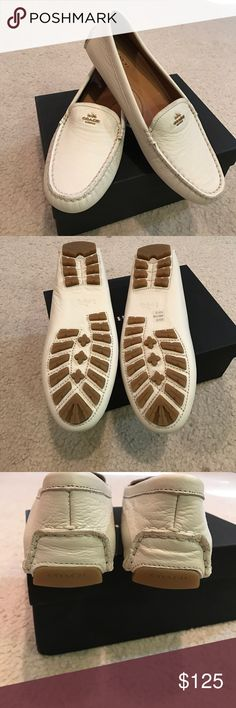 b106d6b60ed ⚡️Chic brand new Coach leather loafers off white