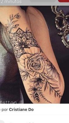 Tribal Sleeve Tattoos Blackwork Lower Back Half Sleeve Tattoos Forearm, Tattoos For Women Half Sleeve, Tribal Sleeve Tattoos, Best Sleeve Tattoos, Hand Tattoos, Small Tattoos, Mandala Tattoo Sleeve Women, Forearm Tattoos For Women, Floral Arm Tattoo