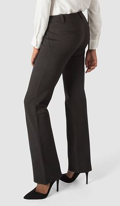 Black Dress Pant Yoga Pants combine a soft, stretchy performance knit with dress-pant style. The most comfortable pants you'll ever wear to work.