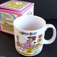 VTG Office Flirt Coffee Mug Cup New w/Box Personalities Papel VG Meyers Korea