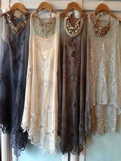 Some gorgeous 20's dresses...I want all of them