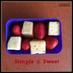 Simple and sweet... and adds a touch of #FunInLunch for the kids today :)