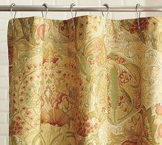 Delphine Organic Shower Curtain #potterybarn