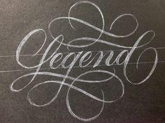 pinterest.com/fra411 #typography #lettering Legend-script-large