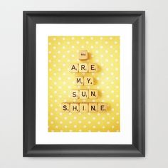 Fun home decor/gallery wall idea. Scrabble tiles on scrapbook paper and framed. Love this!