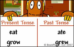 BrainPop verb tenses & activities