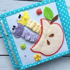 Diy Quiet Books, Baby Quiet Book, Felt Quiet Books, Quiet Book Templates, Quiet Book Patterns, Felt Crafts, Diy And Crafts, Crafts For Kids, Toddler Books