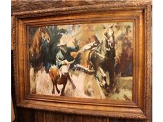 Original Oil Western Painting