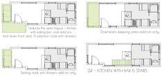 Kootenay Tiny House on Wheels by Green Leaf Tiny Homes Floor Plan 1