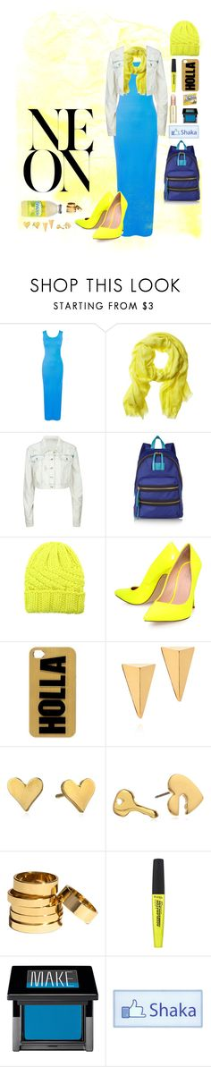"""""""{Shaka} neon maxi"""" by breeches ❤ liked on Polyvore featuring Banana Republic, Marc by Marc Jacobs, Eugenia Kim, Carvela Kurt Geiger, River Island, John & Pearl, Dogeared, Juicy Couture, H&M and Rimmel"""