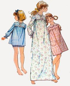 Vintage 70s McCalls 3052 Girls Nightgown and by sandritocat, $8.00
