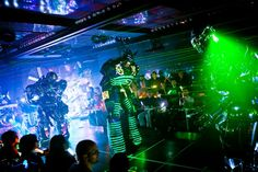 laser light dress | Amidst pulsating electronic music and a matching laser light show ...