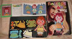 Colorforms Raggedy Ann vinyl reusable sticker set
