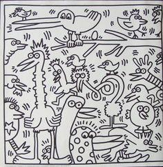 Kleurplaten van Keith Haring