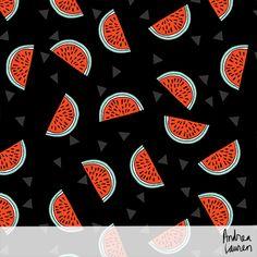 Watermelon pattern by Andrea Lauren