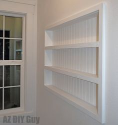 Built In The Wall Shelving Reclaiming Hidden Storage E