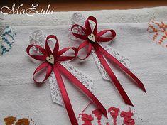 MaZulu / VIntage bordo svadobné pierko
