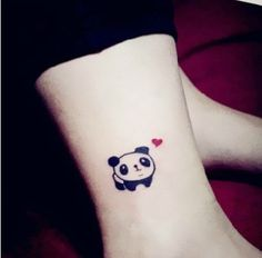 little panda Indie Pop hand drawing temporary tattoo cover up