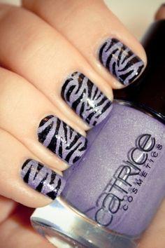 purple leopard nails
