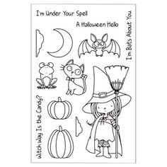 Bat Katze Hexe Kürbis Eine Halloween Hallo Sammelalbum DIY foto karten konto stempel klare stempel transparent stempel A370