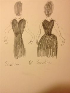 These two are a pair of ocs that I made in math class out of boredom. Their names are Sabrina and Samantha, and they are, (edgy art work) [shut up self], adapted from different time periods of fashion. I should mention that they are sisters. So if you could comment to help me with the backstory, that would be great.