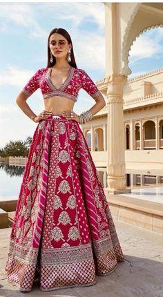 Indian Dress Up, Indian Attire, Indian Wear, Bride Indian, Indian Bridal Outfits, Indian Designer Outfits, Pink Bridal Lehenga, Pink Lehenga, Indian Lehenga