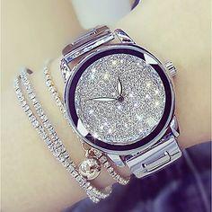 Women's Wrist Watch Japanese Quartz Stainless Steel Silver / Gold 30 m Casual Watch Analog Ladies Damen, Armbanduhr, Japanischer Quarz, … Fancy Watches, Trendy Watches, Elegant Watches, Casual Watches, Beautiful Watches, Luxury Watches, Watches For Men, Cheap Watches, Wrist Watches