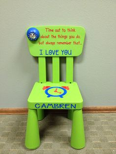 Time Out Chair with Timer | Personalized Time Out Chair with Timer by SwirlyTwirlyDesigns