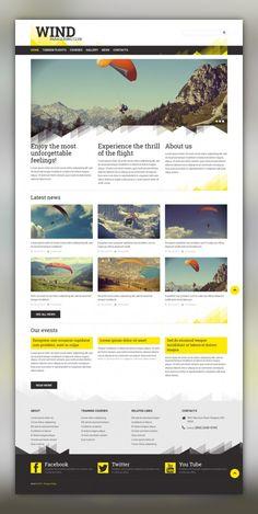 Paragliding Responsive Joomla Template CMS & Blog Templates, Joomla Templates, Sports, Outdoors & Travel, Sport Templates, More Sports, Paragliding Templates