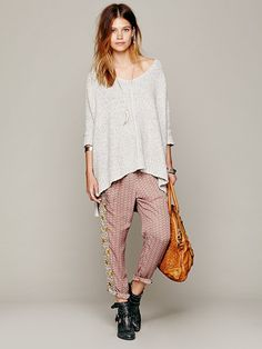 Free People Mixed Print Easy Pleat Pants at Free People Clothing Boutique