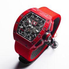 理查德•米勒 (Richard Mille) [NEW][LIMITED EDITION OF 50 PIECE] RM 011 RED TPT QUARTZ AUTOMATIC at HK$1,330,000.