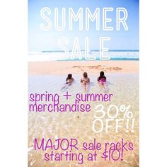 KK Bloom is having a huge Summer Sale! All Spring + Summer merchandise will be ✨3⃣0⃣% OFF✨ aaaaanndddd major sale racks starting at $10! Don't want to miss out on this ladies!!  #kkbloomsummersale #hurryin #dontmissout