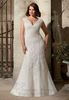 Modern Sheath Wedding Dresses Sexy V-neck Tank Plus Size Pin Up Dresses Floor Length Zipper  Wedding Dresses Fat Women 2015