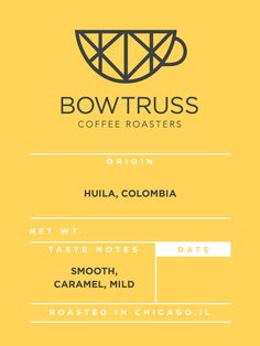 HUILA, COLOMBIA from Bow Truss Coffee in Chicago