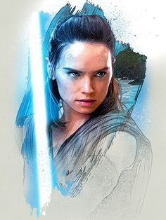 "daisyridleyofficial: ""Rey Promo Art for The Last Jedi "" ❤️"