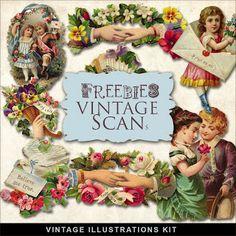 Freebies Vintage Love Vignettes